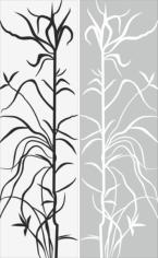 Tree And Leaf Abstract Pattern Sandblast Pattern Free CDR Vectors Art