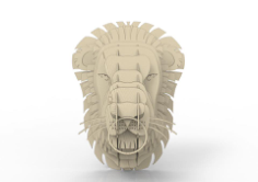 Lion head 3D puzzle Free CDR Vectors Art