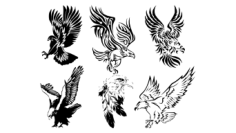 Awesome Tribal Eagle Tattoos Free CDR Vectors Art
