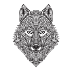 Wolf Face Free CDR Vectors Art