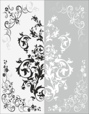 Decor Flower Sandblast Pattern Free CDR Vectors Art