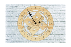 Poker Wall Clock Free CDR Vectors Art