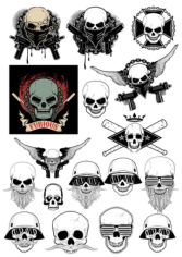 Gangster Skull Free CDR Vectors Art