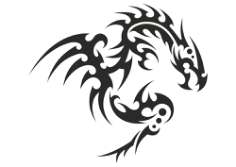 Dragon Silhouette Free CDR Vectors Art
