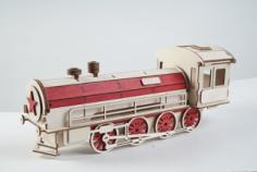 Gift wrap-lokomotive Free CDR Vectors Art