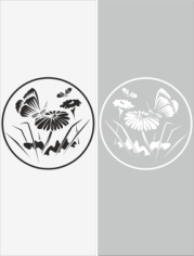 Glass Floral Sticker Decal Free CDR Vectors Art