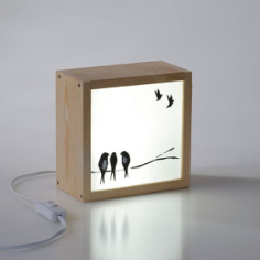 Light Box Swallows Free CDR Vectors Art