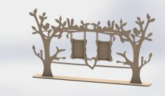 Laser Cut Tree Frame Free CDR Vectors Art