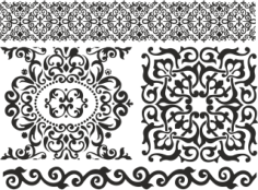 Ornament Baroc Elements Free CDR Vectors Art