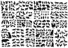 Animals Collection Vector Silhouette Free CDR Vectors Art