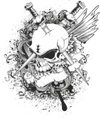 Skull Sw Print Free CDR Vectors Art