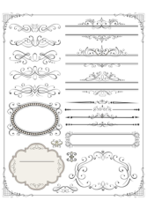 Vector set of page decor elements Free CDR Vectors Art