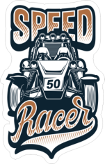 Speed Racer Sticker Free CDR Vectors Art