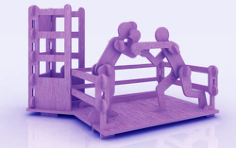 Boxing Pen Holder Stand 3mm Free CDR Vectors Art