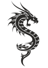 Black And White Dragon Tattoo Free CDR Vectors Art