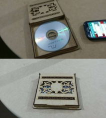 CD cover template Laser cut Free CDR Vectors Art