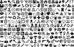 Universal icons Free CDR Vectors Art