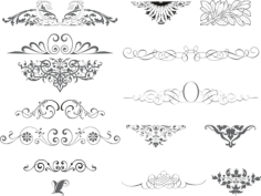 Ornaments Collection Free CDR Vectors Art