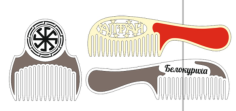 Brush and Comb Set laser cut Free CDR Vectors Art
