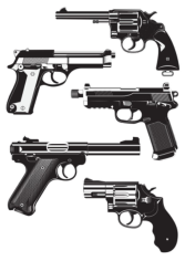 Guns Free CDR Vectors Art