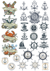 Sea Emblems Free CDR Vectors Art