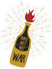 Make Art Not War Sticker Free CDR Vectors Art