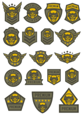 Skull Military Shevron Free CDR Vectors Art