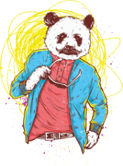 Panda Bear Print Free CDR Vectors Art