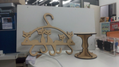 Cat Tail Hanger Laser Cut Free CDR Vectors Art