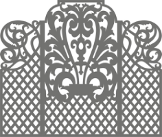 Carved Wedding Screen Free CDR Vectors Art