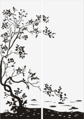 Floral Bush Tree Sandblast Pattern Free CDR Vectors Art
