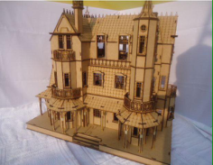 Castle Laser Cut Free CDR Vectors Art