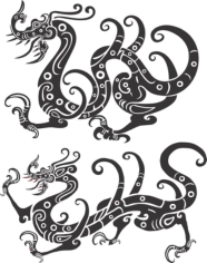 Chinese New Year Golden Dragon Free CDR Vectors Art