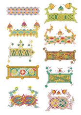 Patterns In Russian Style Free CDR Vectors Art
