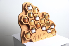 Wild Hives Honey Display Free CDR Vectors Art