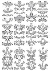 Flower Floral Letters Design Free CDR Vectors Art