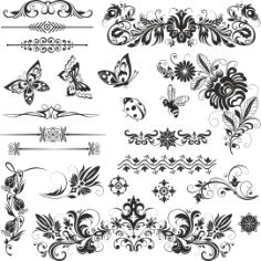 Ornaments Nsect Set Free CDR Vectors Art