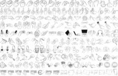 Hand Gestures Free CDR Vectors Art