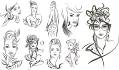 Girls Fashion Sketch Free CDR Vectors Art