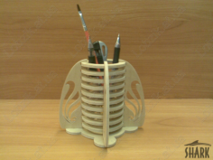 Pencil Box Desk Organizer Laser Cut Free CDR Vectors Art