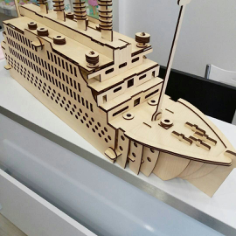 Titanic Laser Cut Puzzle Model Free CDR Vectors Art