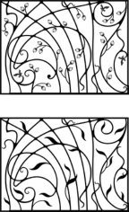 Wrought Iron Gate, Door, Fence, Window, Grill, Railing Design Free CDR Vectors Art