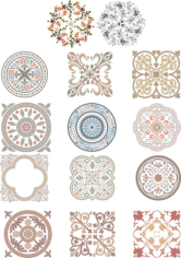 Floral Ornaments Free CDR Vectors Art