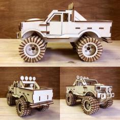 Monster Truck 3D Puzzle Laser Cut Free CDR Vectors Art