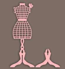 1 Variantt Podstavka Siluet Pod Ukrashenia Free CDR Vectors Art
