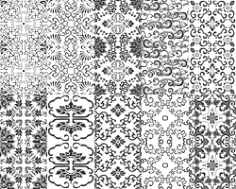 Chinese Pattern Set Free CDR Vectors Art
