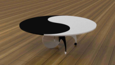 Yin Yang Table 3D Puzzle Free CDR Vectors Art