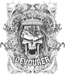 Devourer Print Free CDR Vectors Art