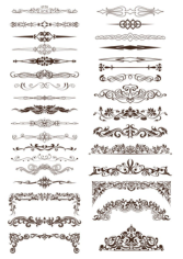 Ornate Vintage Borders and Rule Lines Free CDR Vectors Art