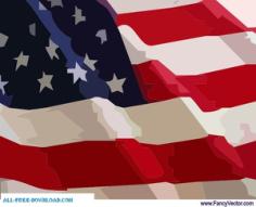 American Flag Free CDR Vector Art